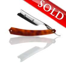 "Thiers Issard - The Blades Grim 7/8"" Straight Razor - Faux Tortoise Scales"