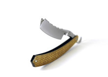 "Alex Jacques ""Custom"" 6/8"" Razor With ""Lightning strike"" Kevlar scales embedded with brass"