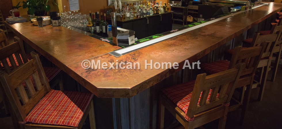 Handmade Copper Tables, Sinks, Range Hoods, And Bar Tops Mexican Home Art