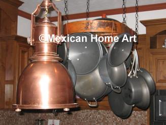 "Copper Pot Rack in ""natural"" for SM"