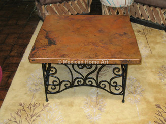 Copper Coffee Table with table base