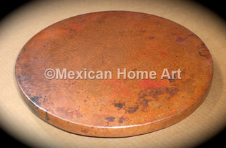 Copper Lazy Susan 24 Natural Patina
