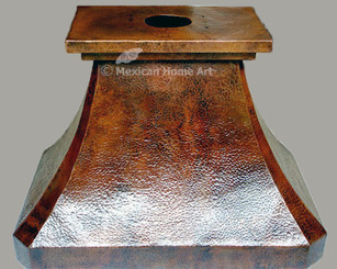 Copper Range Hood Island Mount