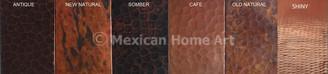 Six Copper Patina options