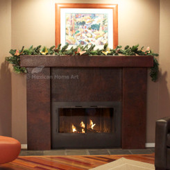 Custom Fire Place Covered in Copper Panels