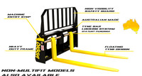 New Digga Skid Steer Floating Pallet Forks for Universal Mounts