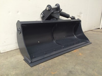 New : Tilting Batter Mud Bucket Excavator Attachment for Hire