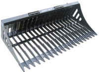 New : Rake Bucket Skid Steer Track Loader Attachment for Hire