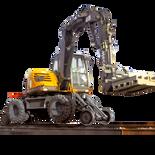714MW RR Rail Road Railway Rail Machine Mecalac
