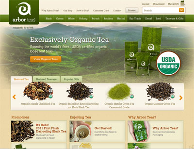 Arbor Teas New Website
