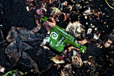 Arbor Teas Packaging Being Composted!