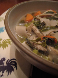 Green Tea Chicken Noodle Soup