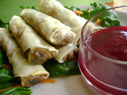 Lapsang Souchong Spring Rolls
