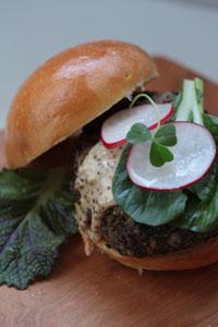 Smoky Yerba Mate Lentil Burger