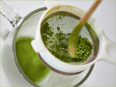 Step One: Start by measuring ½ - 1 teaspoon cooking grade Matcha.