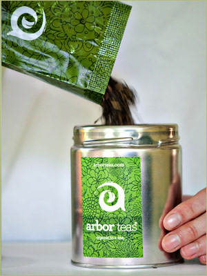 Step Two: For maximum freshness, transfer your loose leaf tea to an opaque, airtight container.