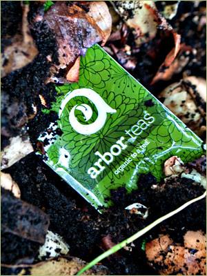 Backyard Compostable Arbor Teas Packaging