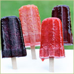 Tea-Flavored Frozen Fruit Pops: Crimson Berry Tisane-Cherry