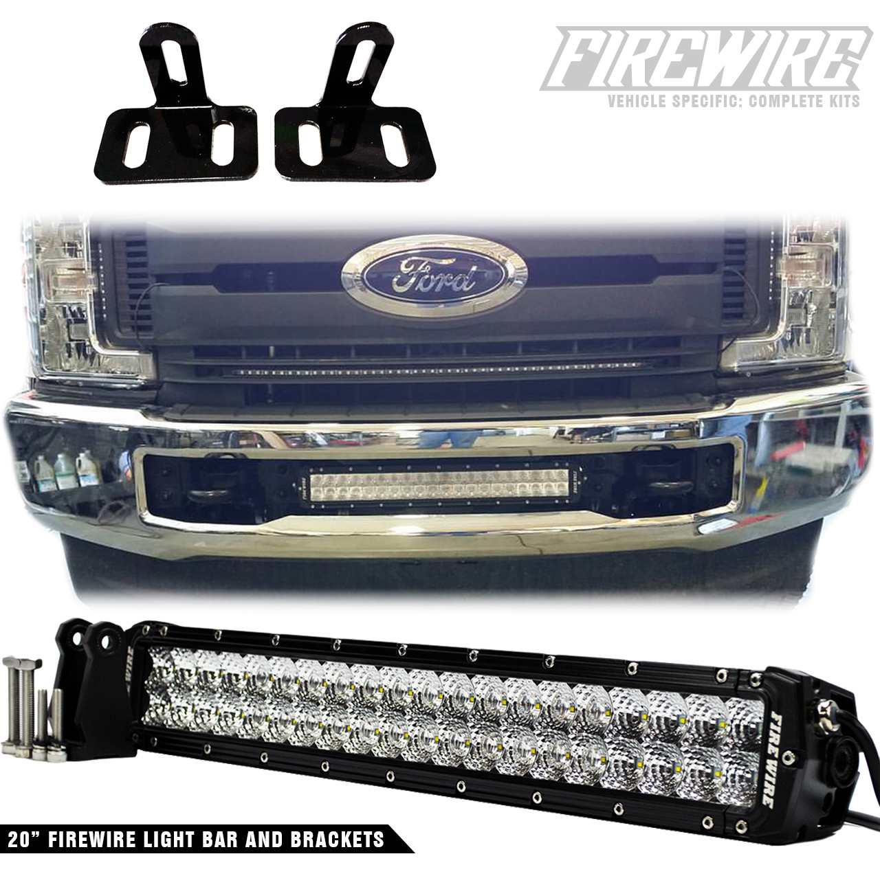 2017 Ford Super Duty Bumper Light Bar Kit Firewire Leds