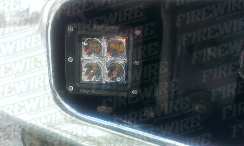 "Both brackets and hardware only. These brackets fit in current fog light brackets and allow you to mount a 3""x3"" LED."