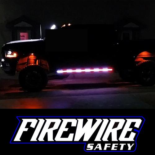 FIREWIRE AMBER WHITE ROCKER STROBE LIGHTS KIT