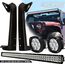 JK Light Bar Kit With 4.5 Inch Rounds
