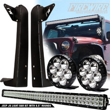 JK Light Bar Kit With 6.5 Inch Rounds