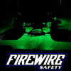 GREEN FIREWIRE LED MINI ROCK LIGHT KIT IN ACTION ON A TRUCK