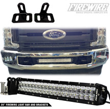 2017 FORD SUPER DUTY BUMPER 20 INCH LIGHT BAR KIT INSTALLED