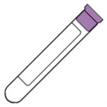 Lavender Vacutainer, 7.0 mL