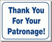 "L105 ""Thank you for your patronage!"""