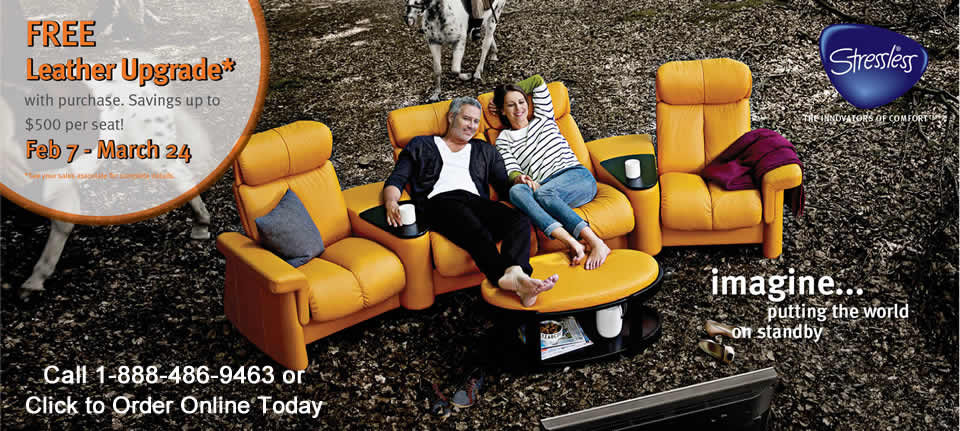 The Ekornes Stressless Leather Upgrade Promotion is Going on Now at Unwind.com