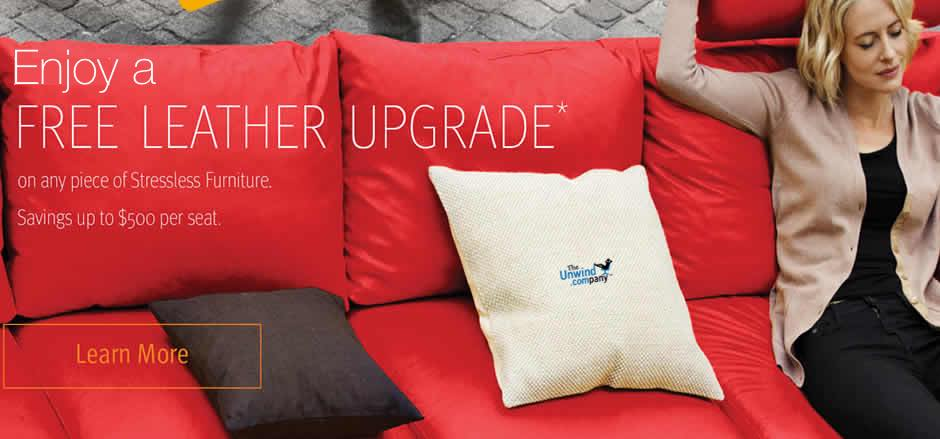 The 2015 Ekornes Stressless Leather Upgrade Sale