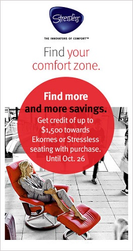 Learn the details about the latest sale on Ekornes Furniture at the Unwind.com Blog.