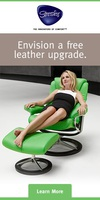 2016 Free Leather Upgrade on Stressless Recliners from The Unwind Company.
