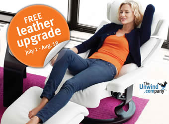 The Ekornes Leather Upgrade Promotion Graphic