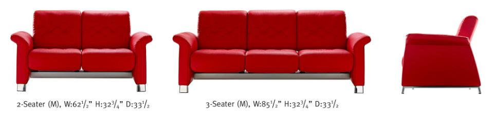 Metropolitan- Sofa and Loveseat new to Ekornes.