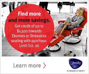 Get the best prices on all Stressless Recliners at Unwind- 2015 Home Seating Promo