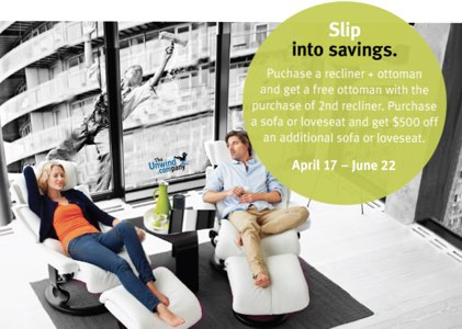 Save on additional seating under the Stressless Companion Promo.