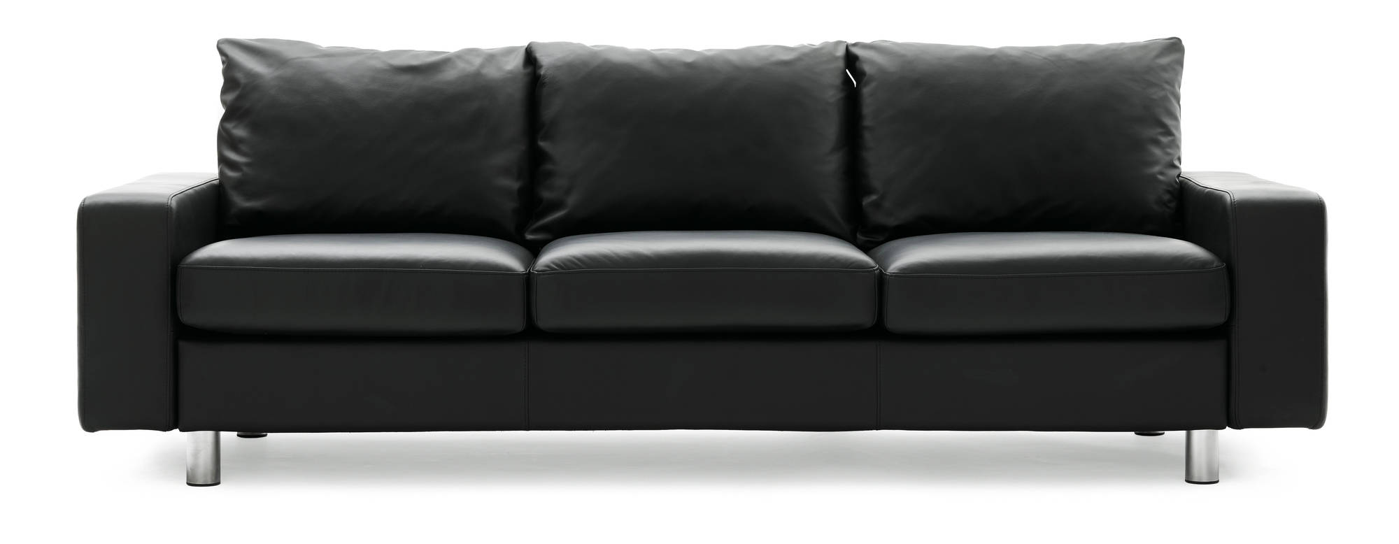 E200 Stressless Sofa shown in Black Paloma- Saves 20% instantly.