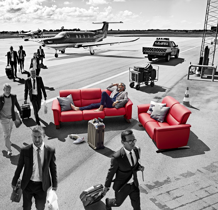 In-use Photo of 2015 Panorama Sofa and Love seat by Ekornes