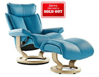 Ekornes Magic in Skyblue Paloma leather. Ships free!