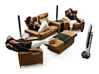 Stressless Space Home Theater Seating always ships free with Free White Glove Delivery at Unwind.