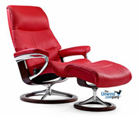 Stressless View Recliner and Ottoman by Ekornes- Dazzling comfort.