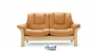 Buckingham Low Back Loveseat shown in Tan Paloma as example.