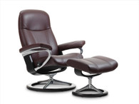 Signature Series Stressless Consul in Noblesse Amarone Leather- Coming to Unwind 2016