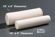 BetterNeck Cervical Roll Firm - 6 inch by 18 inch- Ivory