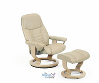 The most economical Stressless recliner offers great neck, back and body support.