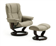 Mayfair Medium Recliner with Stone Paloma Leather.