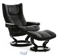 The Stressless Wing is available in a variety of leather and fabric options. Enjoy free In-Home delivery at Unwind.com
